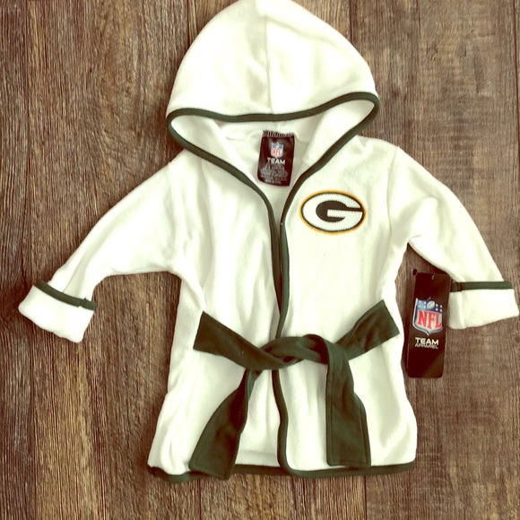 watch 7ccc9 25d23 Green Bay Packers baby robe NWT